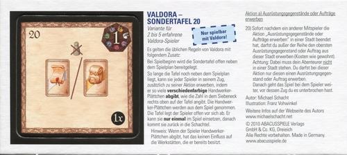 Valdora: Special Board 20