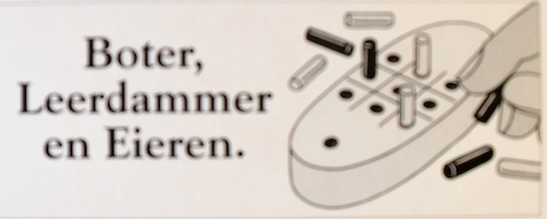 Boter, Kaas & Eieren + Backgammon Magnetisch reisspel