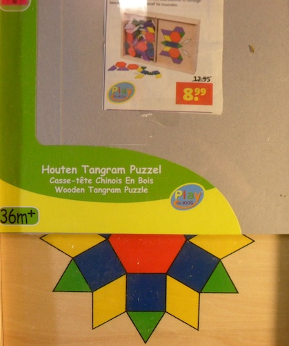 Houten Tangram Puzzel