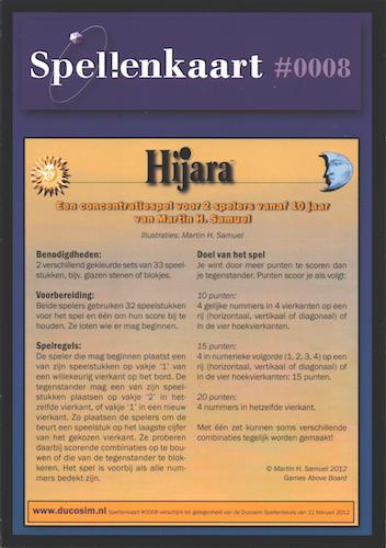 Spellenkaart #0008: Hijara