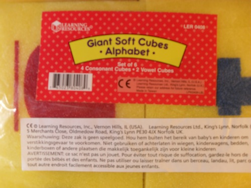 Giant Soft Cubes Alphabet