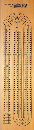 "Official Mister ""29"" Cribbage Board"