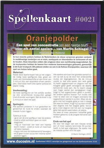 Spellenkaart #0021: Oranjepolder