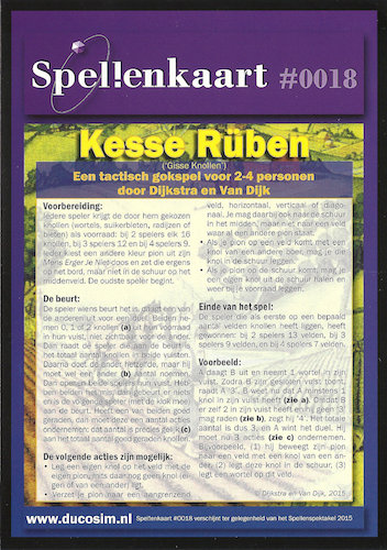 Spellenkaart #0018: Kesse Rüben (Gisse Knollen)