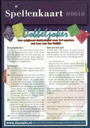 Spellenkaart #0010: Dobbeljoker