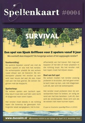 Spellenkaart #0004: Survival