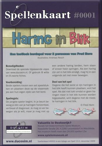 Spellenkaart #0001: Haring in Blik