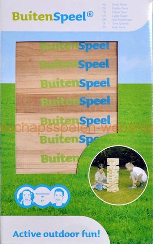 Buitenspeel: Grote Toren (Jenga)