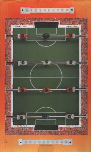Iedereen mag nu in Oranje meespelen (Tafelvoetbalspel)
