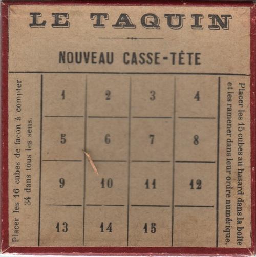 Le Taquin (Nouveau Casse-Tête)