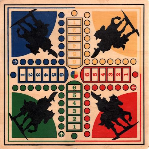 Paardjesspel (hout)