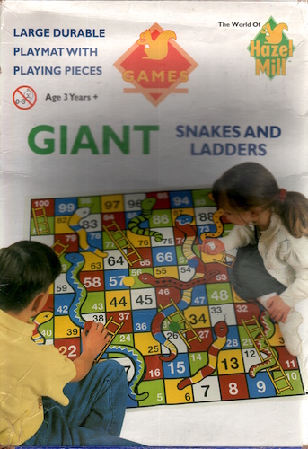 Giant Snakes and Ladder (Large Durable Playmat with Pieces)