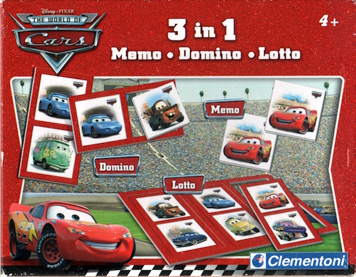 3 in 1 (Memo - Domino - Lotto) Disney Cars
