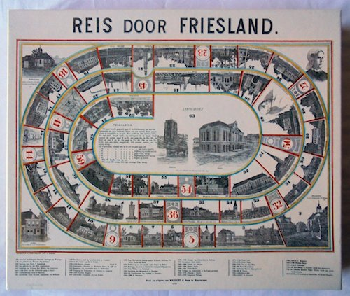 Reis door Friesland