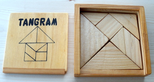 Tangram (houten doosje)