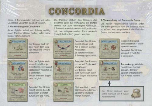 Concordia: 8 Forumkaarten