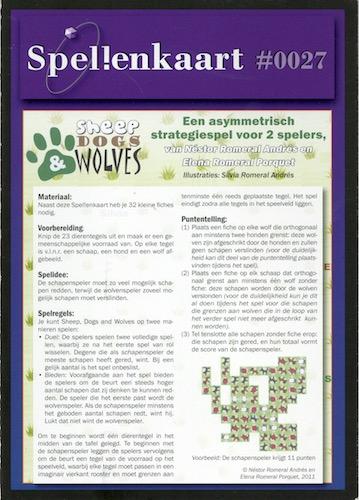 Spellenkaart #0027: Sheep Dogs Wolves