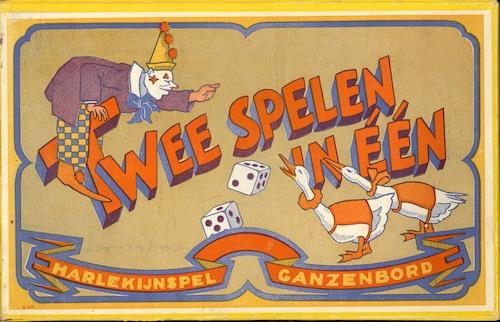 Twee Spelen in één: Harlekijknspel en Ganzenbord