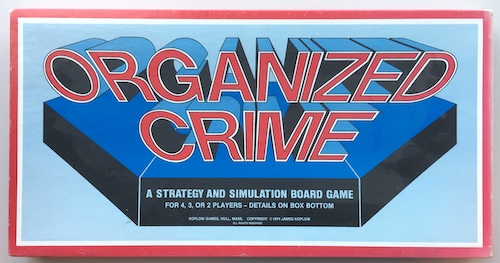 Organized Crime: A Strategy and Simulation Board Game