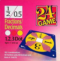 24 Game Fractions/Decimals