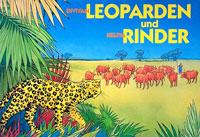 Leoparden und Rinder