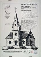 Lass die Kirche ins Dorf