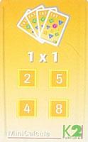 MiniCalcula 1 x 1 - tafels 2, 4, 5 en 8