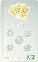 MiniCalcula 1 : 1 - deeltafels 4, 6, 7, 8 en 9