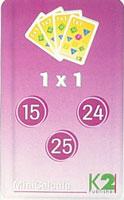 MiniCalcula 1 x 1 - tafels 15, 24 en 25